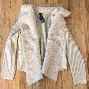 Torrid Faux Sherpa Sweater Jacket